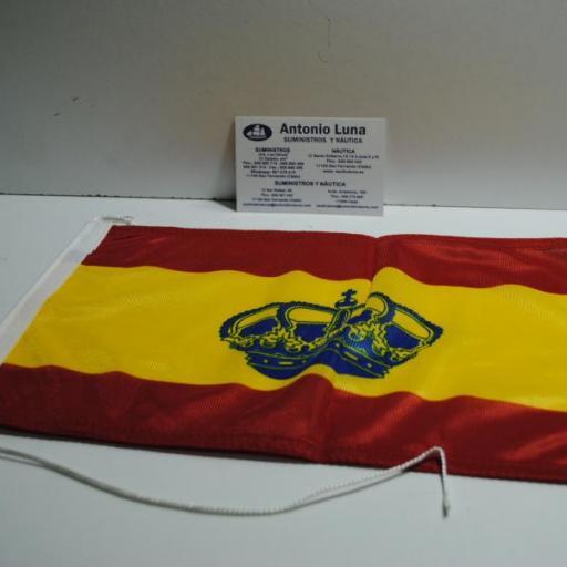 Bandera de España con corona