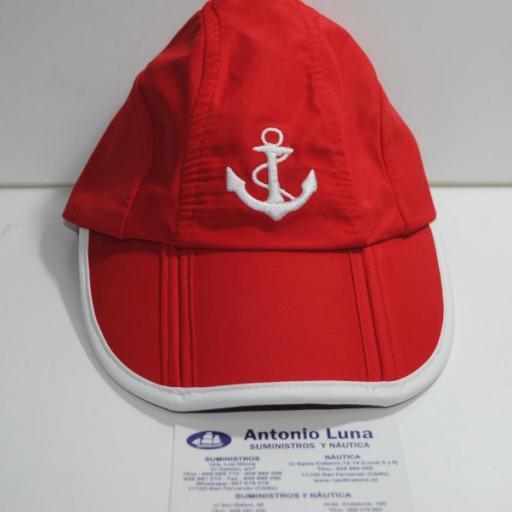 Gorra náutica roja Ancla