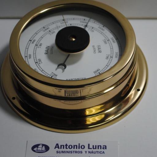 Barómetro 160/125 mm. latón pulido.