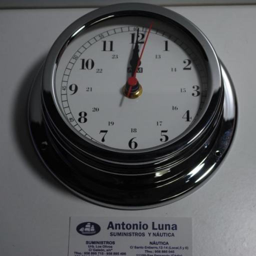 Reloj 150/120 mm. latón cromado. [3]