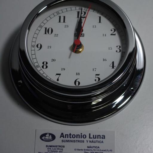 Reloj 150/120 mm. latón cromado. [0]