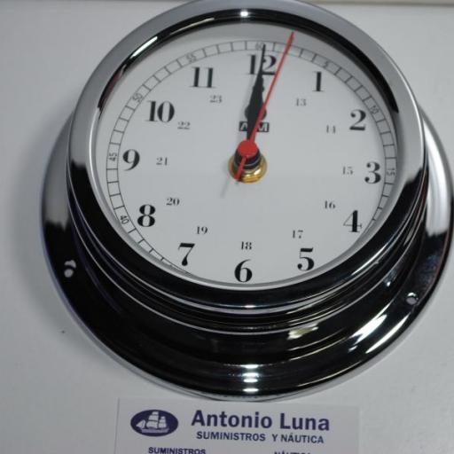Reloj 150/120 mm. latón cromado. [1]