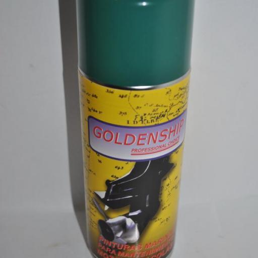 Pintura (spray) para motor Volvo verde 400ml Goldenship [1]