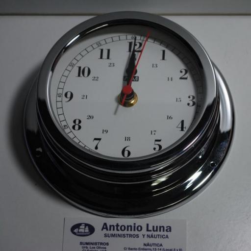Reloj 150/120 mm. latón cromado. [2]