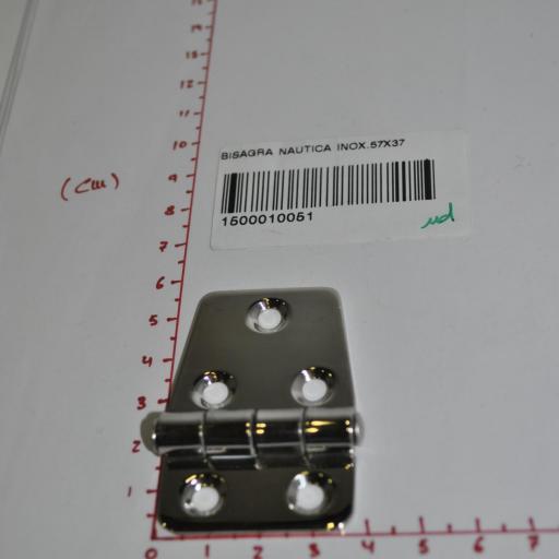 Bisagra de acero inoxidable-316 de 57 mm x 37 mm