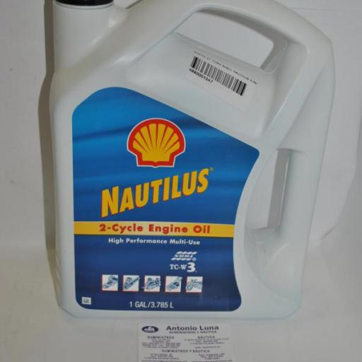 Aceite motor 2T (TC-W3) Nautilus 3,78 lts Shell
