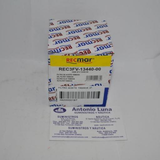 Filtro de aceite RecMar (equivalente) Yamaha 3FV-13440-00 [0]