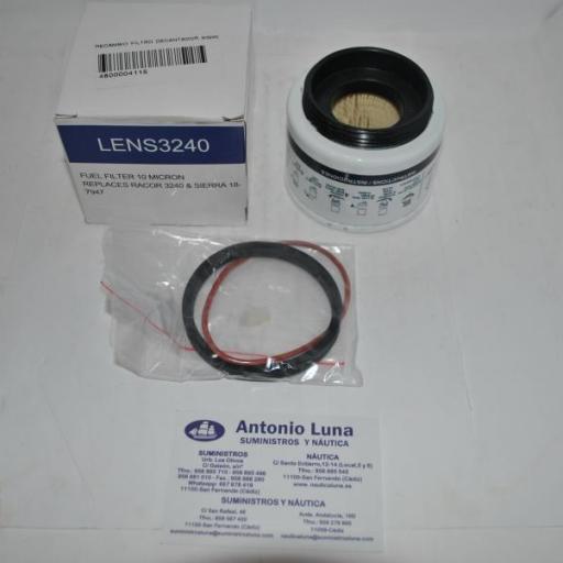 Filtro decantador (sólo recambio) (equivalente S3240 Parker-Racor) Lens