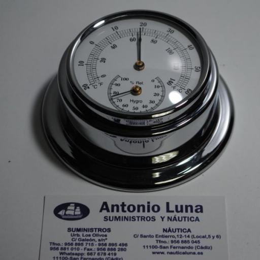 Termo-higrómetro náutico niquelado 95/70 mm Anvi