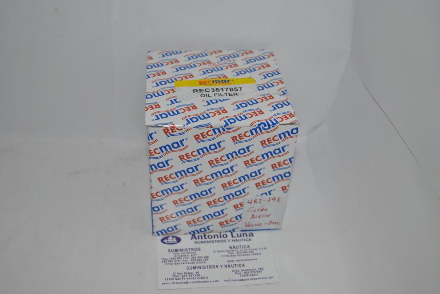 Filtro de aceite RecMar (equivalente) OMC/Volvo 3517857