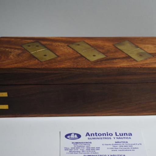 Juego de dominó de madera y latón [3]