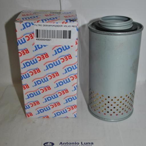 Filtro desvaporizador (cárter) (equivalente Volvo) REC876069 RecMar