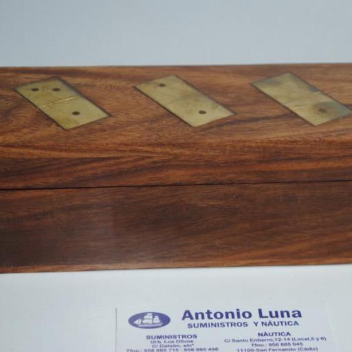 Juego de dominó de madera y latón [2]