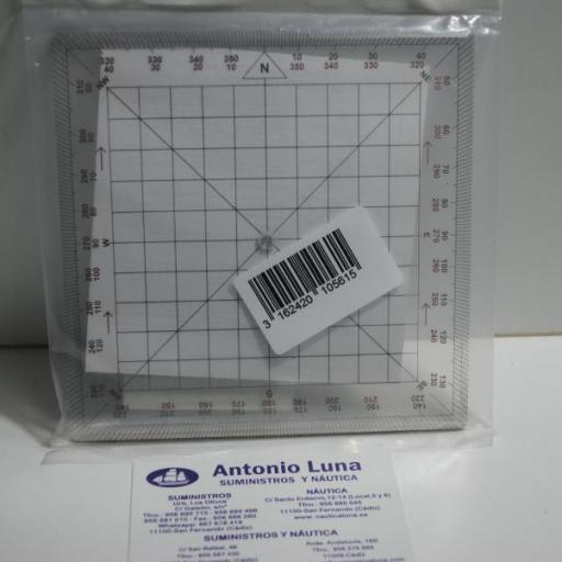 Transportador cuadrado de 13 cm x 13 cm Plastimo