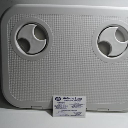 Registro (escotilla o tambucho) con tapa abatible de 200 x 300 blanca Nuova Rade