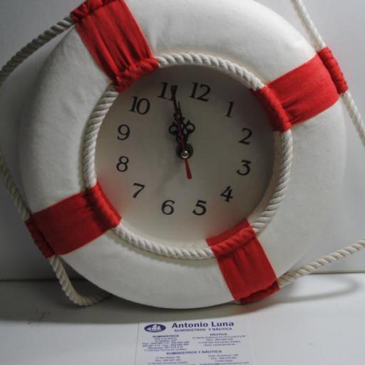 Salvavidas reloj rojo