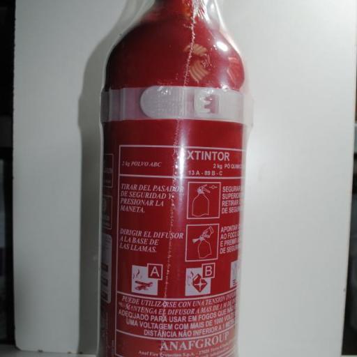 Extintor náutico de 2 kg polvo ABC