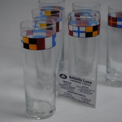 """Set 6 vasos """"Código Internacional Señales"""""""