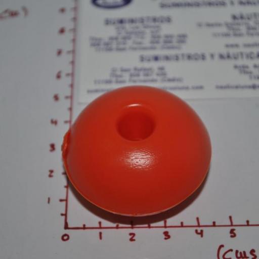 Flotador para red naranja 45mm Lalizas