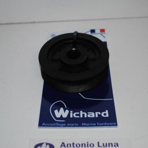 Roldana de policarbonato negra de 70 mm Wichard