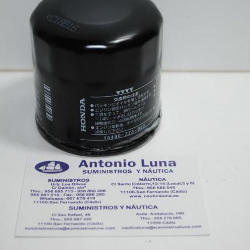 Filtro de aceite original 15400-ZZ3-003 Honda
