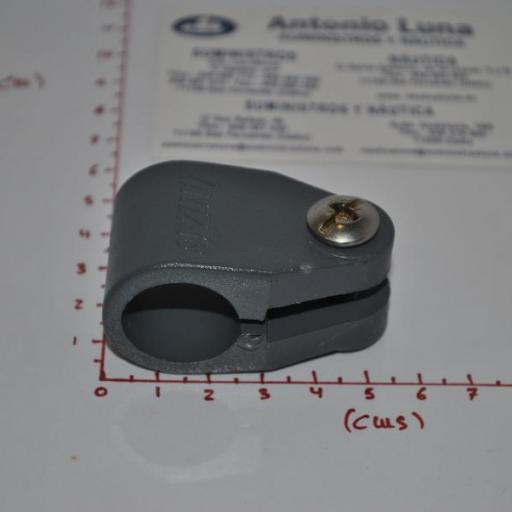 Abrazadera de capota de policarbonato gris de 22 mm Lalizas