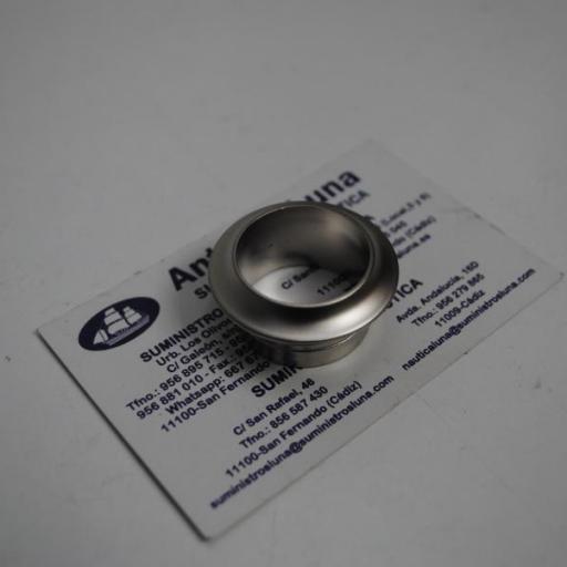 Roseta de PVC de acabado níquel mate para cierre pulsante (para paneles de 16 mm)
