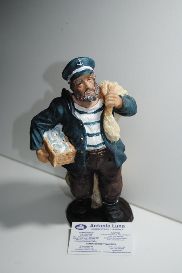 Pescador con red de resina