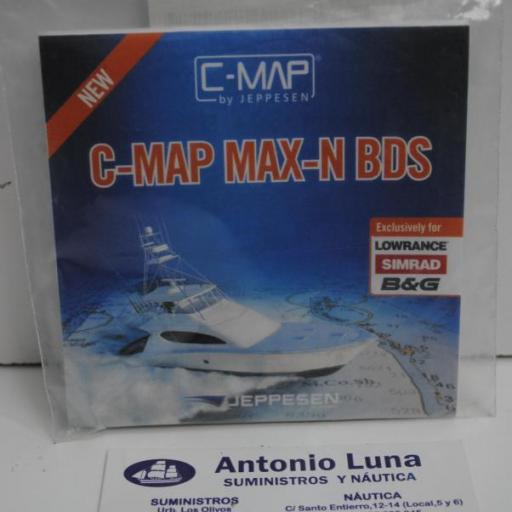 Carta digital C-Map Max-N BDS (Mediterráneo) (para equipos Lowrance) Jeppesen