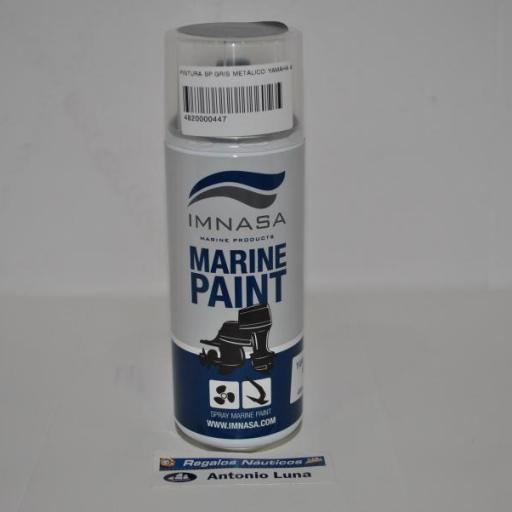Pintura (spray) motor Marine Paint Yamaha gris metálico 400ml Imnasa