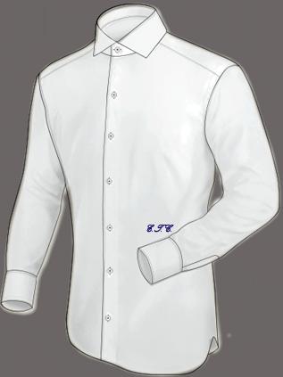 Letra bordada en cintura inglesa