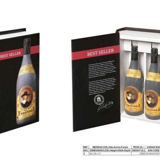 Libro Estuche 2 botellas Faustino I Gran Reserva 1999