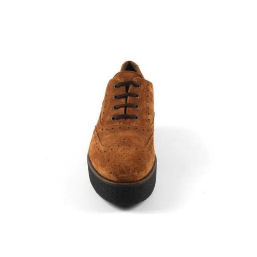 PERTINI zapato cordones serraje camel [2]