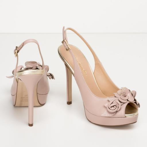 Zapato Peeptoe napa nude [1]