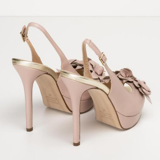 Zapato Peeptoe napa nude [2]