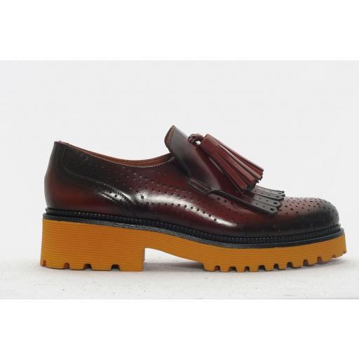 Pons Quintana zapato Kevin piel marrón toffe .