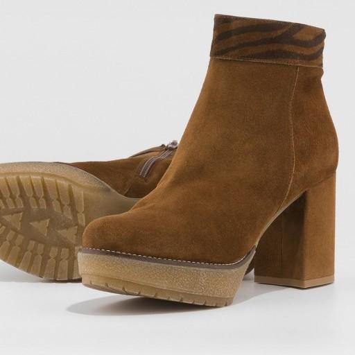 Gadea botín serraje marrón con plataforma [2]