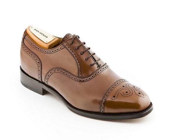 Zapato de cordones de piel hombre Jhon Spencer