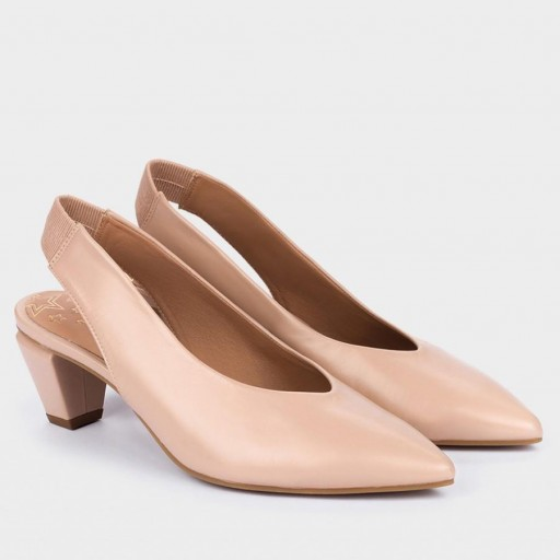 Zapato salón en piel nude de Pedro Miralles [1]