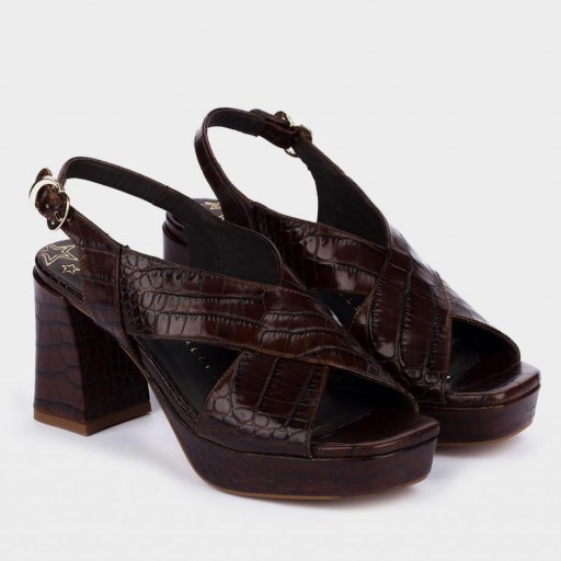 Pedro Miralles sandalias de tacón piel grabada [1]