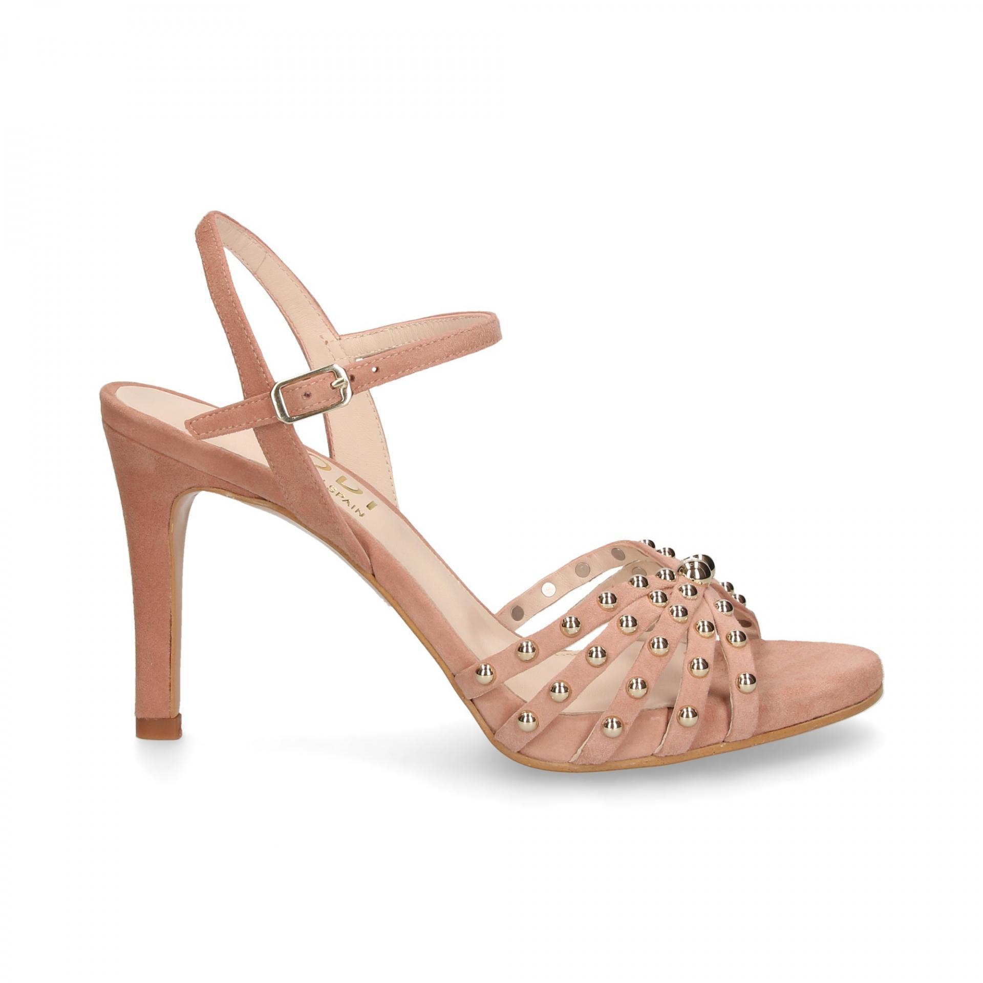 LODI Sandalias con tacón rosa