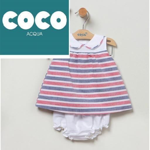 Vestido rayas Coco Acqua [2]