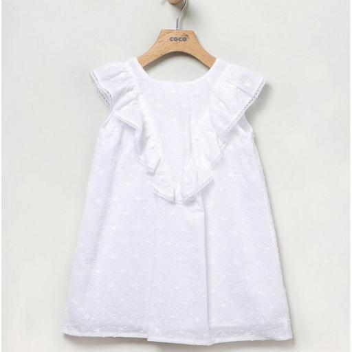 Vestido Plumeti blanco Coco Acqua [1]