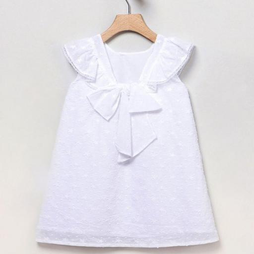 Vestido Plumeti blanco Coco Acqua [2]