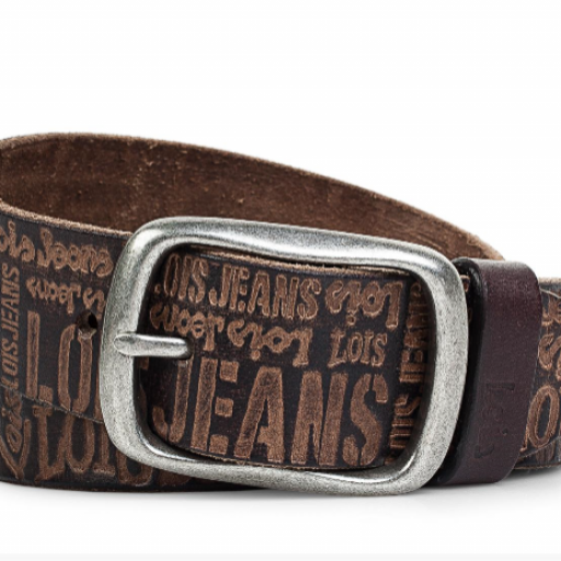 Cinturón piel letras Lois