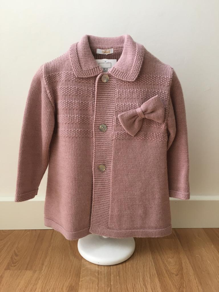 Abrigo con capota rosa empolvado Babydif