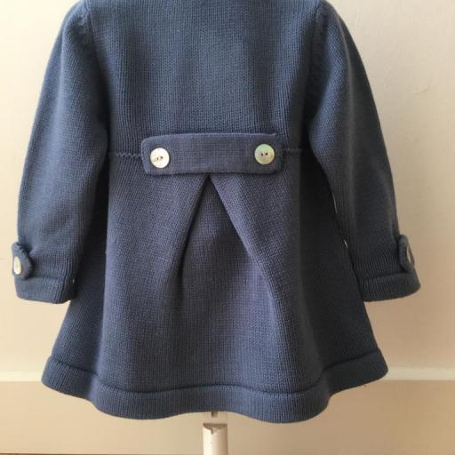 Abrigo punto con capota azul  Babydif [1]