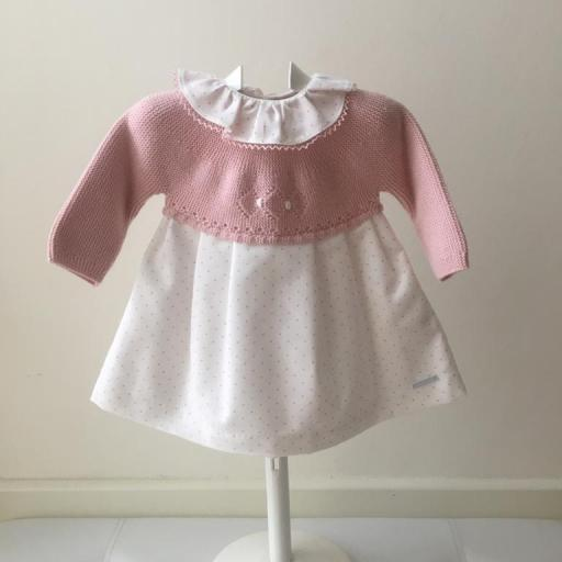Vestido Pangasa Baby Points Rosa [1]