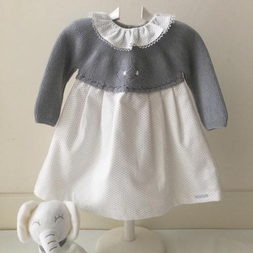 Vestido Pangasa Baby Points Gris