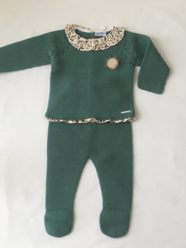 Conjunto polaina Hojas Pangasa Baby